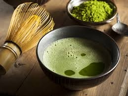 Matcha il te verde giapponese in polvere