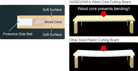 Tagliere con nucleo in legno